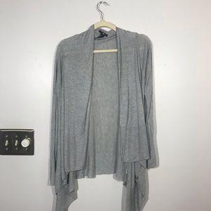 H&M Thin Gray Open Cardigan, Size Small